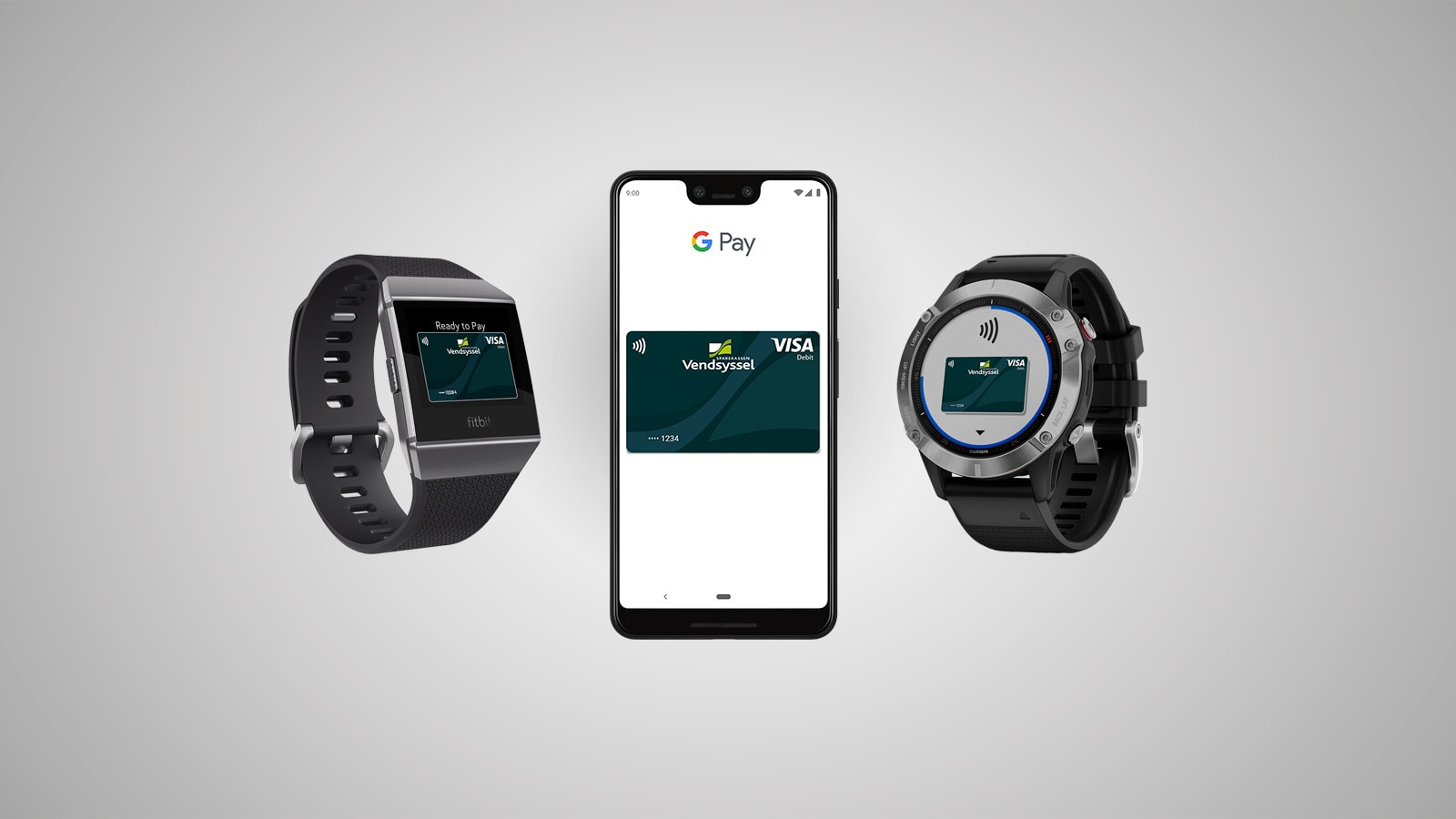 Google Pay, Garmin Pay og Fitbit Pay